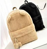 Рюкзак с ушками(ушки)Cat меховый( махровый).