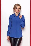 Строгая блуза из мягкой шелковистой ткани