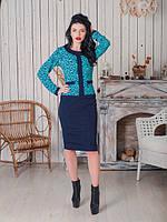 Платье Хилари с однотонным низом