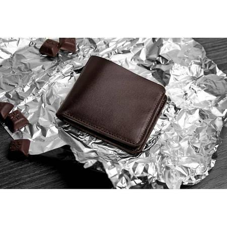 Компактне портмоне шоколадного кольору