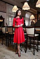 Платье Маковый цвет