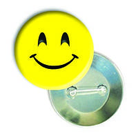 "Закатної круглий значок - смайл ""Мила усмішка"""