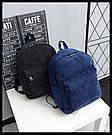 Большой вельветовый рюкзак с брелком., фото 6