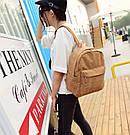 Большой вельветовый рюкзак с брелком., фото 8