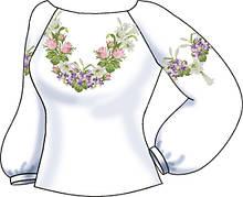 СВЖБ-59. Заготовка Жіноча сорочка лляна біла