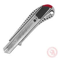 Нож с ломающимся лезвием 18мм, с металлической направляющей, противоскользящий корпус