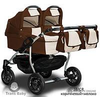 Універсальна коляска 2 в 1 для двойни Trans Baby Jumper Duo 38/CR