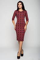 Трикотажное платье в клеточку Елена  Leo Pride 44-46 размеры