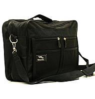 Мужская сумка Wallaby 2633 черная барсетка через плечо папка портфель А4+ 39х26х14см