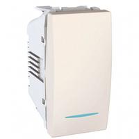 Механизм выключателя 1-кл. с подсветкой 10А, 1 мод. Schneider Unica