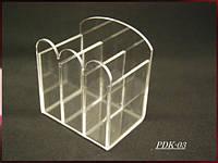 Подставки-органайзер для косметики, кистей и пилок на 3 секции