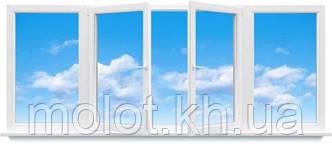 """Металлопластиковая балконная рама, кирпичная 5-ти этажка """"Хрущёвка"""""""