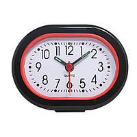Будильник №117 часы настольные с подсветкой (черный)
