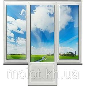 """Металлопластиковый балконный блок """" Чебурашка """", кирпичная 5-ти этажка """"Хрущёвка"""""""