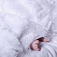 Крыжма для крещения Изабелла от Miminobaby кремовая
