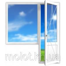 """Металлопластиковый балконный блок , кирпичная 5-ти этажка """"Хрущёвка"""""""