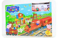 Железная дорога «Поезд Свинки Пеппы» (звук, свет, 6 фигурок)