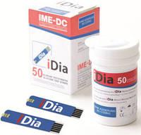 Тест-полоски к глюкометрам для определения уровня глюкозы IME-DC iDia (срок до 01.2021), Германия