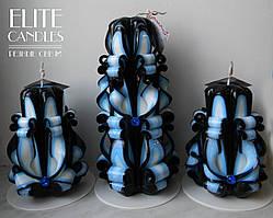 Набір інтер'єрних свічок, оригінальні незвичайні кольори
