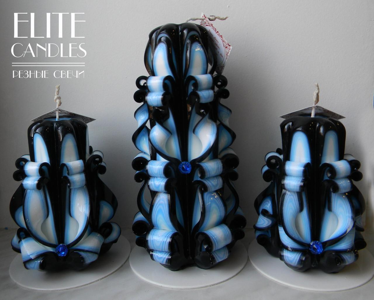Набор интерьерных свечей, оригинальные необычные цвета - ELITE CANDLES  Интернет-магазин подарков и декора a788c42b92c
