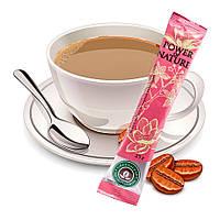 Напиток кофейный растворимый с экстрактами листьев белого лотоса и корня женьшеня