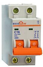 Автоматический выключатель ECO MB 2p C 16A ECOHOME