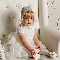 Платье для крещения Белла (Изабелла) от Miminobaby кремовое
