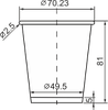 Стакан бумажный цветной 175 мл, фото 3