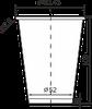 Стакан бумажный цветной 340 мл, фото 3