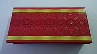 """Подарочный конверт для денег """"Узоры""""168*83 мм,лак,глиттер.Подарунковий конверт для грошей 168*83мм."""