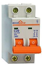 Автоматический выключатель ECO MB 2p C 25A ECOHOME