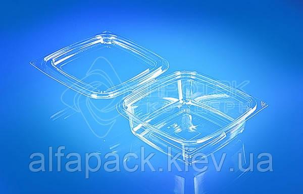 Упаковка для салатів 500мл, ПР-СК-РГ-500, 137*137*68