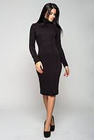 Теплое черное платье  Гольф  Leo Pride 44-46 размеры