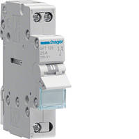 Переключатель ввода резерва I-0-II трехпозиционный 1P, 25А,  SFT125 Hager