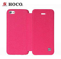 HOCO Star book leather case for iPhone 5C, hot pink