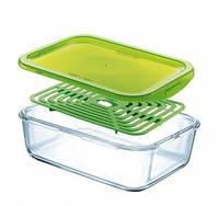 Емкость для еды прямоугольная с решеткой Luminarc Keep'n'Box 1,97 л J7976