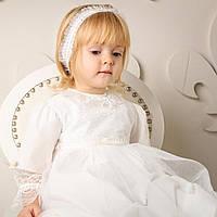 Детская повязка Белла (Изабелла) от Miminobaby кремовая