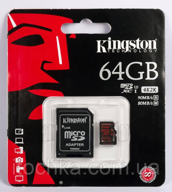 Карта памяти Kingston 64 GB microSD