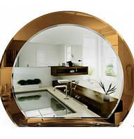 Фигурное зеркало в ванную с полочкой, размер 59х67 см