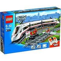 Пластмассовый конструктор LEGO City Скоростной пассажирский поезд 60051