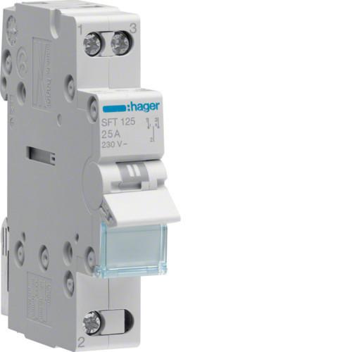 Переключатель ввода резерва I-0-II трехпозиционный 1P, 40А,  SFT140 Hager