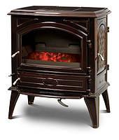 Чугунная печь на угле Dovre 640 GK/E6 коричневая майолика эмаль - 9 кВт, фото 1