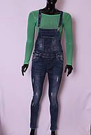 Женский стильный  джинсовый комбинезон  (код RE1031)