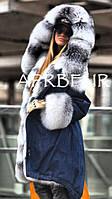 Парка с мехом лисы Amber Frost Fox