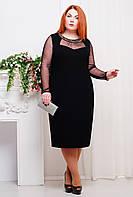 Платье c сеткой СЮЗЕТ черное