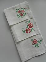 Набор кухонных полотенец с букетами роз. хлопок 100%. белые.