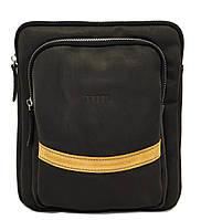 Кожаная мужская сумочка Mk12.2 черная матовая