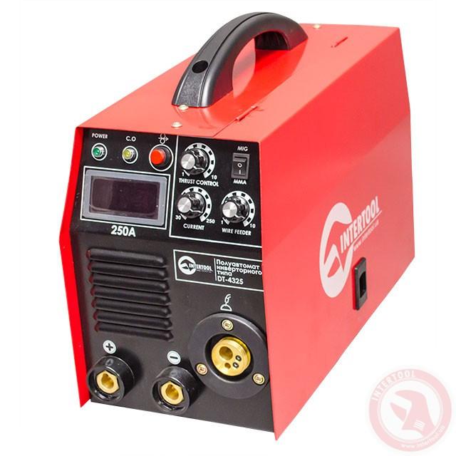 Полуавтомат сварочный инверторного типа комбинированный 7,1кВт., 30-250А., проволока 0.6-1.2мм., электрод 1.6-