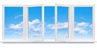 """Металлопластиковая балконная рама в 9-ти, 12-ти этажный дом, косой балкон """"Полька"""""""