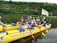 Однодневный сплав по реке Днестр Залещики - Синьков.